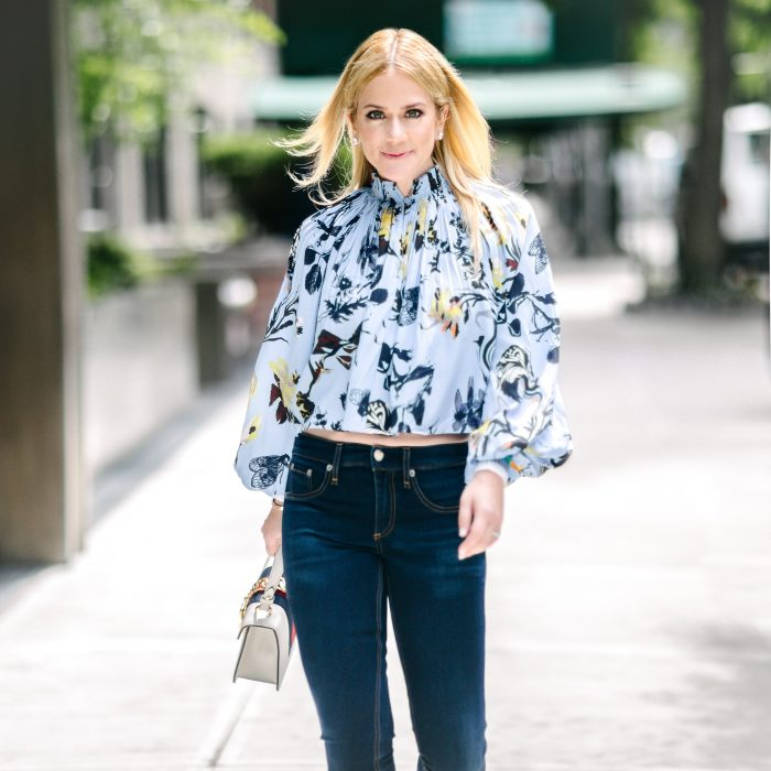 Garden Party Floral Print Top: Bold and Understated - Stylists to a T